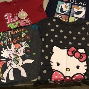 Lot of 4 Girls T-shirts M Excellent Condition